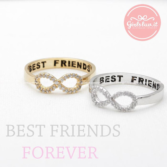jewels jewelry infinity ring ring best friends ring best friends forever
