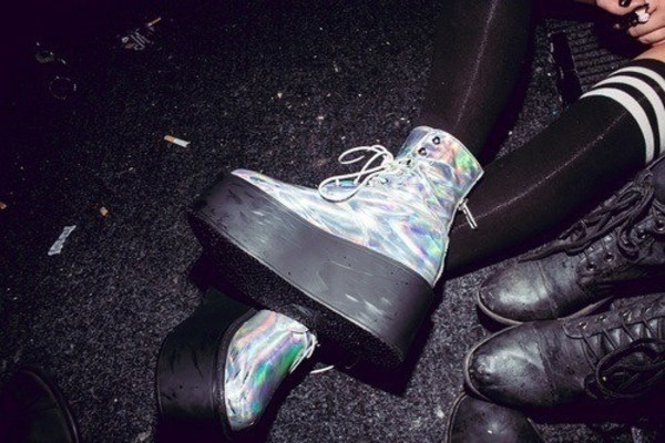 shoes holographic platform shoes creepers