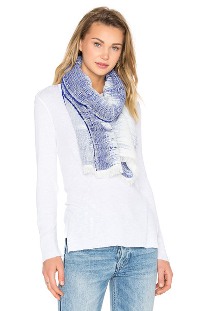 ombre scarf blue