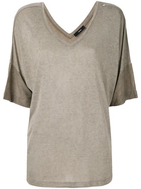 Diesel t-shirt shirt t-shirt women brown top