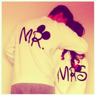 sweater se disney jumper white sweatshirt mr. mrs.