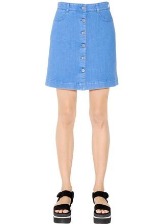 skirt denim skirt denim cotton blue