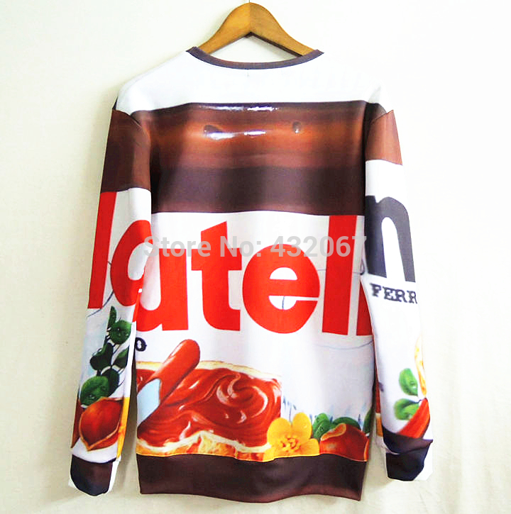 2014 Autumn Fashion women/men 3d galaxy sweatshirts Nutella spoof fun lifelike food chocolate sauce harajuku loose sweater-in Hoodies & Sweatshirts from Apparel & Accessories on Aliexpress.com | Alibaba Group