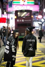 coat,jacket,kawaii,kawaii dark,black,kawaii grunge,hat,beanie,soft grunge,fashion,japan,cardigan,black top,japanese sweater,asian,asian fashion,kpop,swag