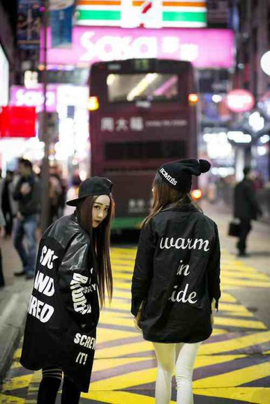 hat jacket coat kawaii kawaii dark black kawaii grunge beanie soft grunge fashion japan