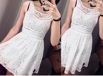 dress white lace crochet white lace dress crochet dress