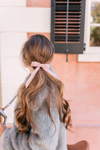 hair accessory hair hair bow hairstyles brunette long hair