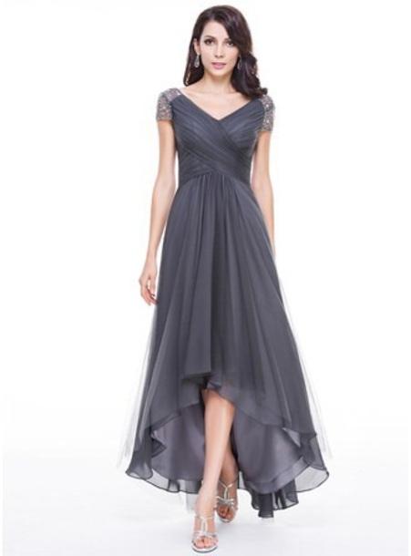 dress silver evening dress