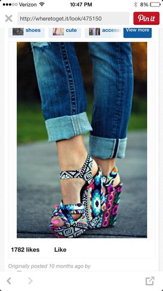 shoes multi colored