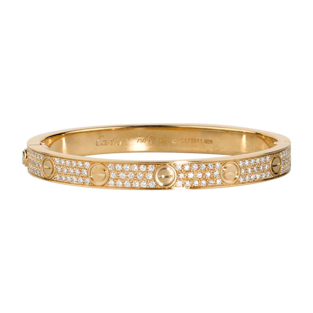 LOVE bracelet - Yellow gold, diamonds