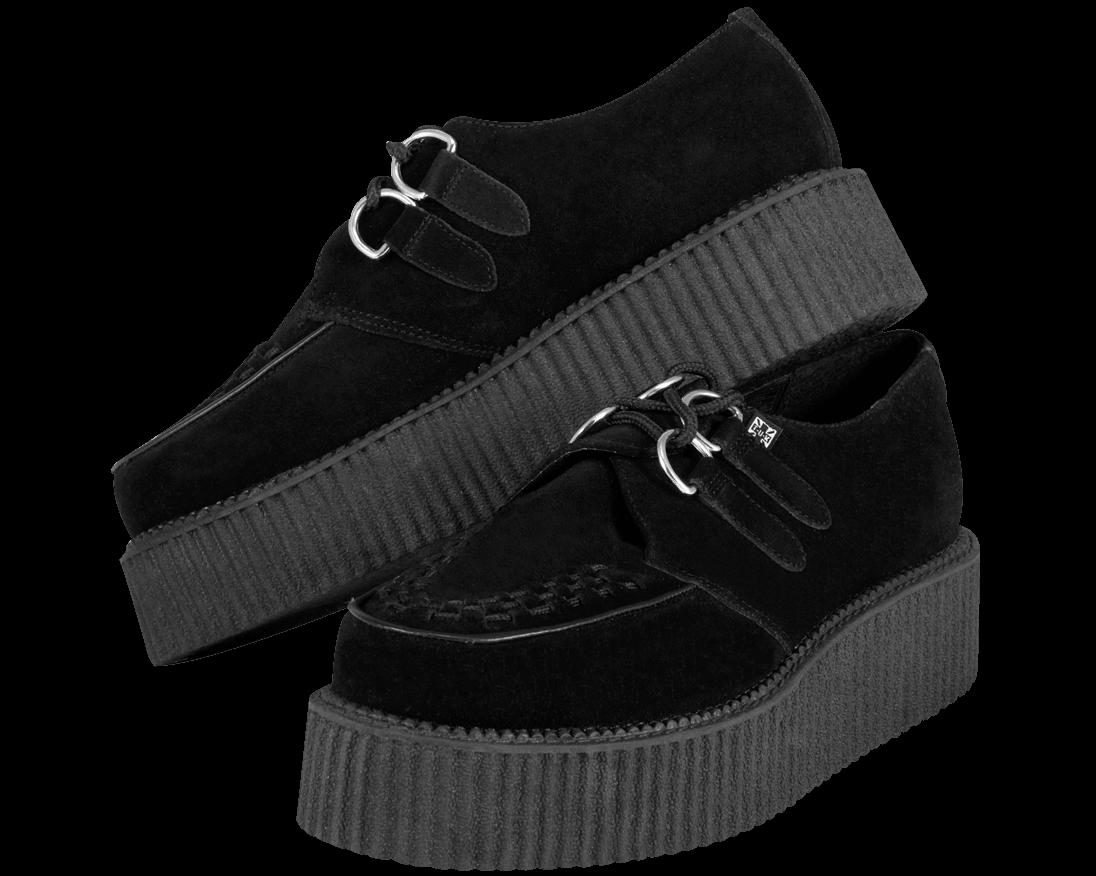 Black Suede Mondo Creeper - T.U.K. Shoes | T.U.K. Shoes
