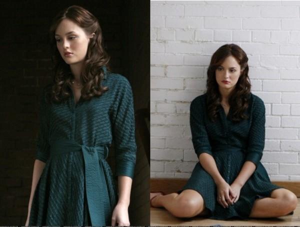 blair waldorf leighton meester green dress gossip girl dress jewels