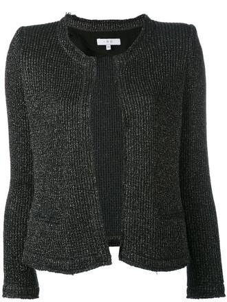 cardigan metallic women cotton black knit sweater