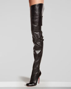 Knee red sole boot