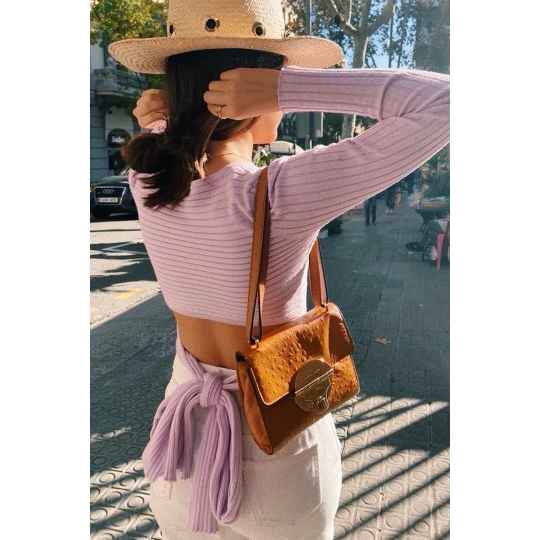 VG Design Launches Knit Tie Back Top // Lilac