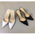 Summer new style point toe transparent glass glue slippers YS-C4429-Lovelyshoes.net