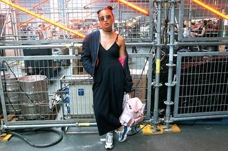 clδsh blogger jumpsuit shoes sunglasses bag