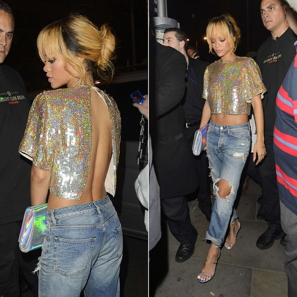 shirt rihanna bag crop tops
