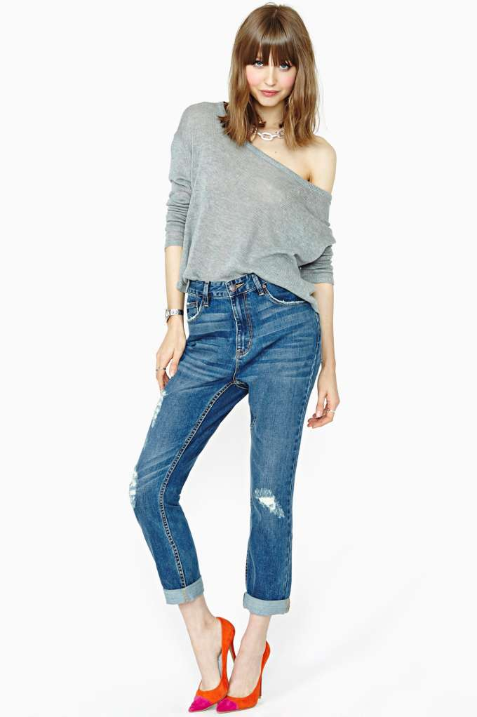 RES Denim Slacker Boyfriend Jeans at Nasty Gal
