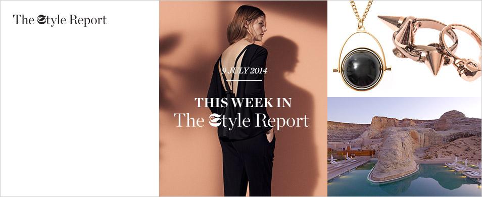 Vintage palm and stripe swimsuit | Kenzo | MATCHESFASHION.COM