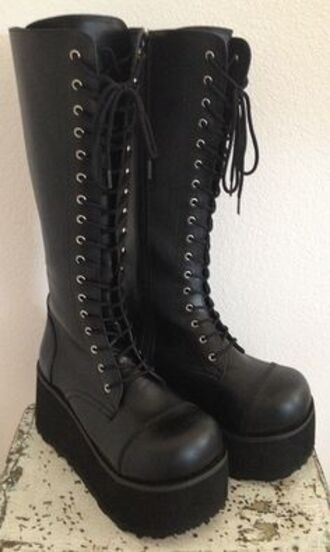 shoes laceup lace up boots punk rock punkrock style