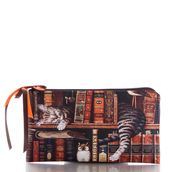 bag,cats,book,cute,ziziztime,cosmetic bag
