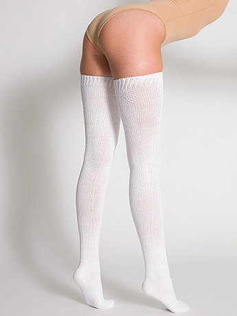 3a455cbf8ba Cotton Solid Thigh-High Socks