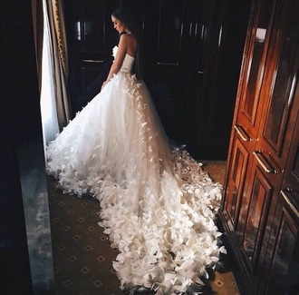 dress wedding dress white floral white dress wedding flowers spring spring dress summer dress fall dress fall outfits lace wedding clothes romantic summer dress lace dress