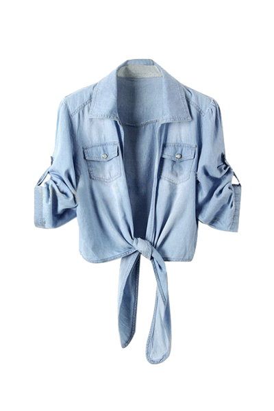 Denim Diva Tie Top
