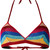 Laneus - lurex striped bikini top - women - Polyamide/Polyester/Viscose - 42, Polyamide/Polyester/Viscose