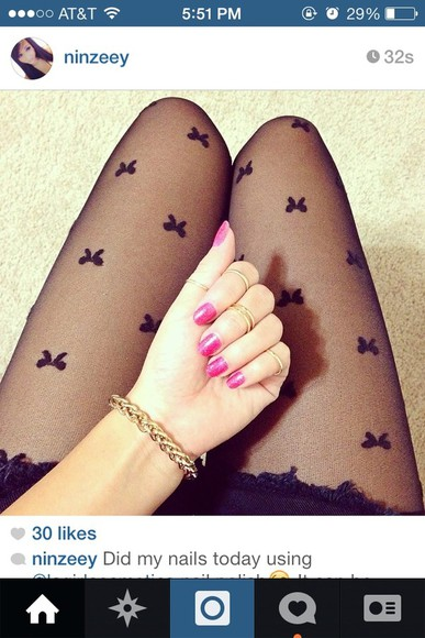 fishnet pants bow bows tights leggings