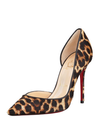 Christian Louboutin Iriza Leopard-Print Calf Hair Red Sole Pump - Bergdorf Goodman