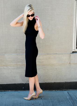 yael steren blogger dress shoes jewels sunglasses make-up classy