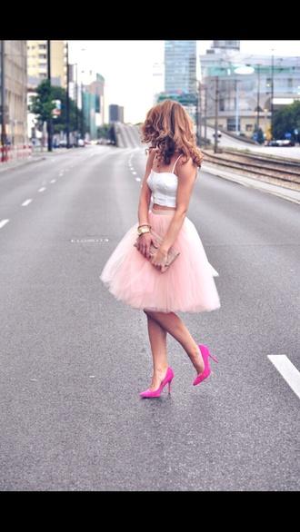 shirt skirt tulle skirt blush tulle
