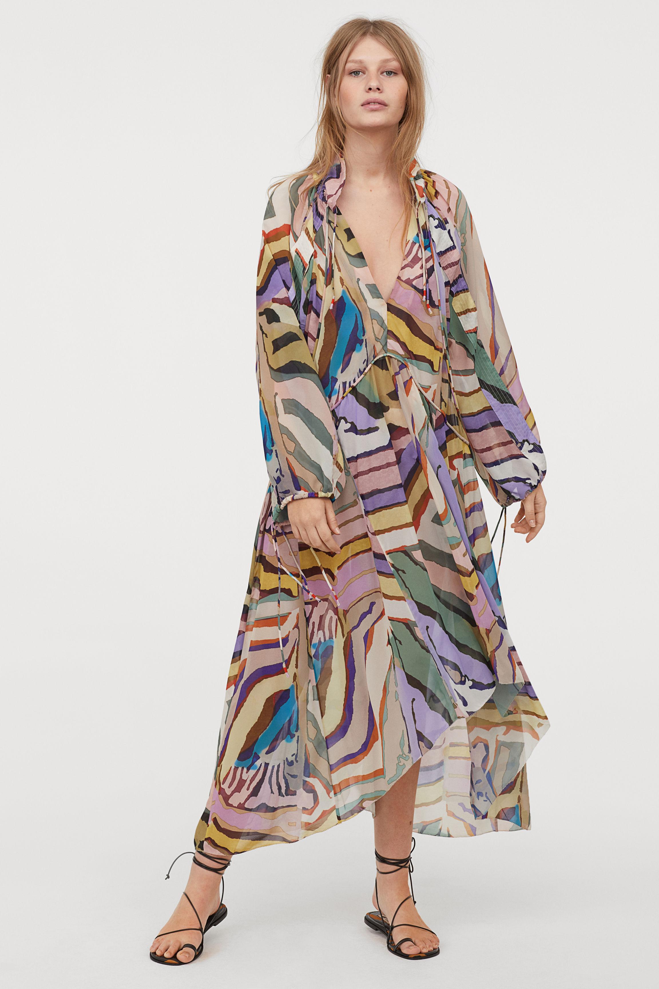 Patterned Dress - Multicolored - Ladies   H&M US
