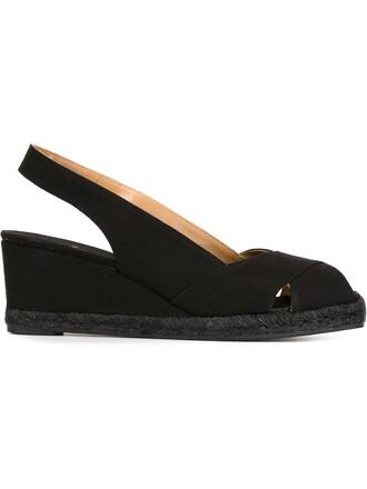 back sandals black shoes