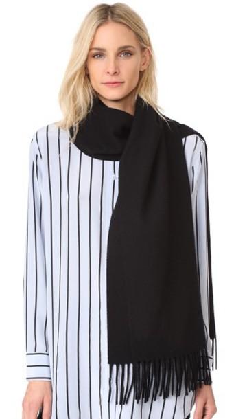classic scarf wool black