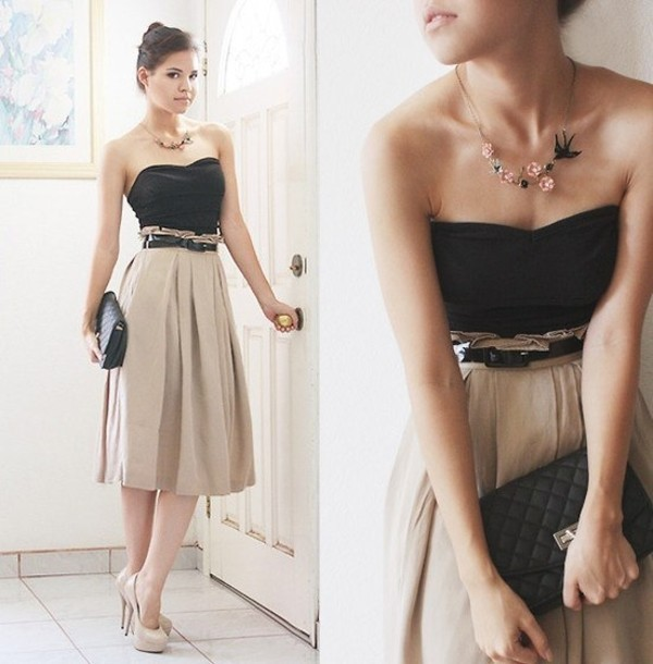 Skirt: long skirt, maxi skirt, midi skirt, beige skirt, high ...