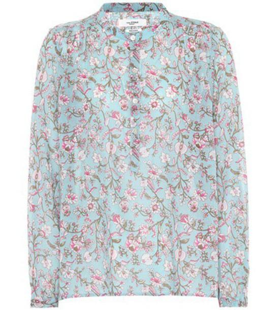 Isabel Marant, Étoile top floral cotton blue