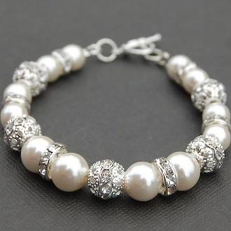 jewels pearl silver bracelets
