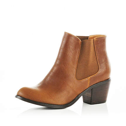 light brown chelsea boots - ankle boots - shoes / boots - women ...