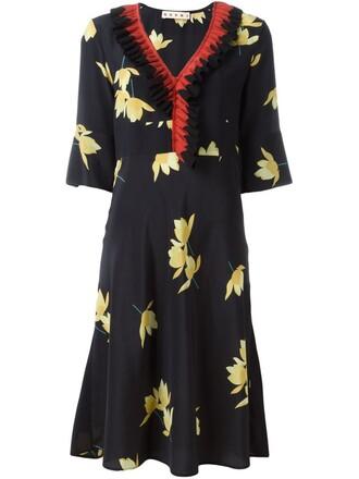 dress ruffle dress ruffle black