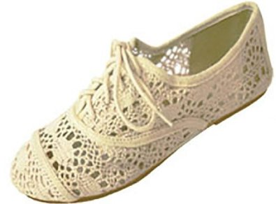 Amazon.com: Womens Crochet Oxfords Flat Shoes Lace Up 4 Colors: Shoes