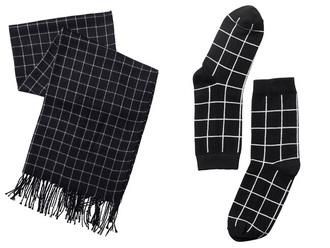 scarf grid grid socks black grid scarf checkered socks black and white