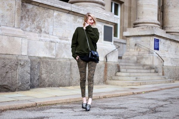 ohh couture blogger camo pants oversized sweater