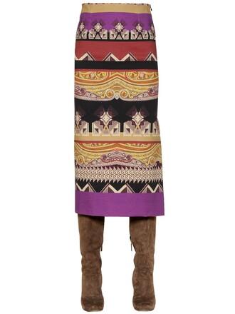 skirt pencil skirt purple