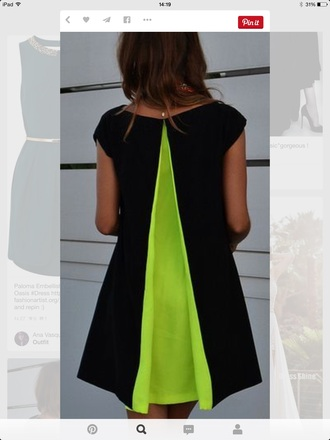 dress black green colors beautiful girly lime