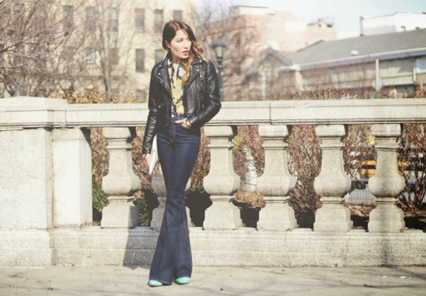 the marcy stop blogger jeans jacket blouse bag shoes