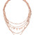 Luv Aj The Moonstone Multi Charm Necklace - Rose Gold