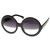 Designer Inspired Round Circle Half Tinted Lens Sunglasses 8511                           | zeroUV